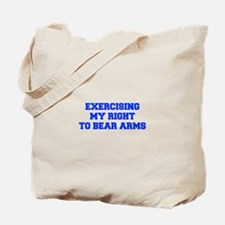 exercising-my-right-to-bear-arms-fresh-blue Tote B