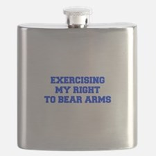 exercising-my-right-to-bear-arms-fresh-blue Flask