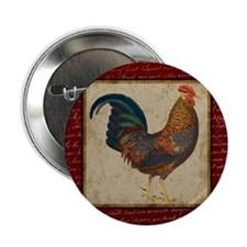 """Red Rooster Vintage 2.25"""" Button"""