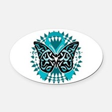 Cute Pcos Oval Car Magnet