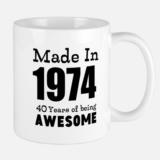 Custom Birthday Made in year and age Mugs
