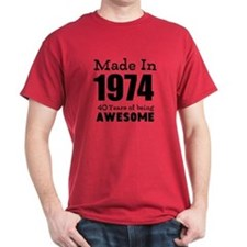 Custom Birthday Made in year and age T-Shirt