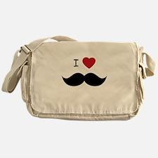 I HEART MUSTACHE Messenger Bag