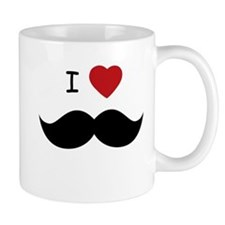I HEART MUSTACHE Mugs