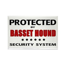 Basset Hound Security Rectangle Magnet