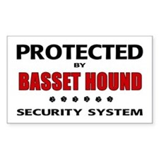 Basset Hound Security Rectangle Decal