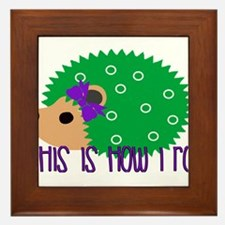 Love Hedgehogs How I Roll Framed Tile