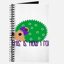 Love Hedgehogs How I Roll Journal
