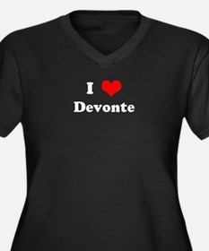 I Love Devonte Women's Plus Size V-Neck Dark T-Shi