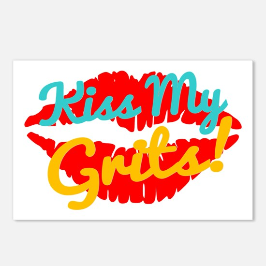Kiss My Grits! Postcards (package Of 8)