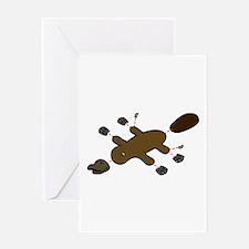 Platypus Diagram Greeting Cards
