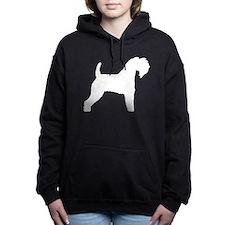 kerry blue terrier white.png Women's Hooded Sweats