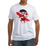 Blood Skull Fitted T-Shirt