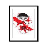 Blood Skull Framed Panel Print