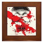 Blood Skull Framed Tile