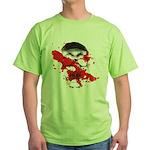 Blood Skull Green T-Shirt