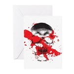 Blood Skull Greeting Cards (Pk of 10)