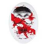 Blood Skull Oval Ornament