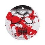 Blood Skull Ornament (Round)