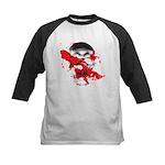 Blood Skull Kids Baseball Jersey