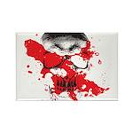 Blood Skull Rectangle Magnet