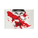 Blood Skull Rectangle Magnet (100 pack)