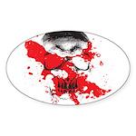 Blood Skull Oval Sticker