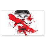 Blood Skull Rectangle Sticker