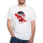 Blood Skull White T-Shirt