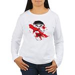 Blood Skull Women's Long Sleeve T-Shirt