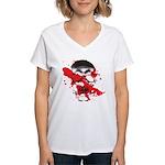Blood Skull Women's V-Neck T-Shirt