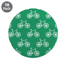 "White Bicycle, Cycling Pattern; Kelly Green 3.5"" B"
