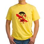 Blood Skull Yellow T-Shirt