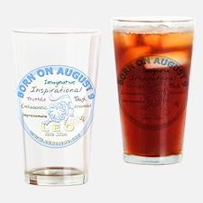 August 9th Birthday - Leo Personali Drinking Glass