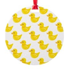Yellow and White Rubber Duck, Ducky Ornament