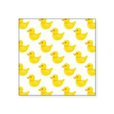 Yellow and White Rubber Duck, Ducky Sticker