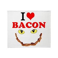 I Love Bacon Throw Blanket