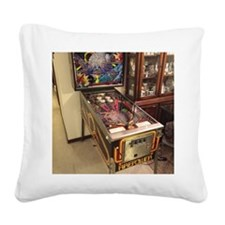 Pinball Machine Square Canvas Pillow