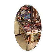 Pinball Machine Oval Car Magnet