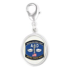 Aviation Machinist's Mate - NEC Silver Oval Charm
