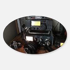 Ham Radio Station Sticker (Oval)