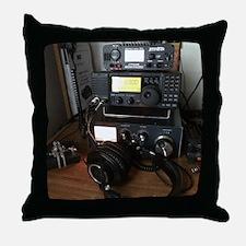 Ham Radio Station Throw Pillow