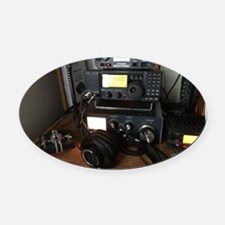 Ham Radio Station Oval Car Magnet