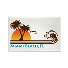 Miami Beach FL Rectangle Magnet
