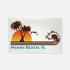 Miami Beach FL Rectangle Magnet