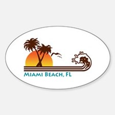 Miami Beach FL Oval Decal