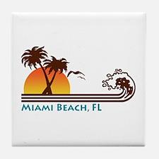 Miami Beach FL Tile Coaster