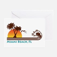 Miami Beach FL Greeting Cards (Pk of 10)