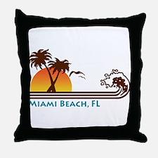 Miami Beach FL Throw Pillow