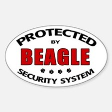 Beagle Security Oval Decal